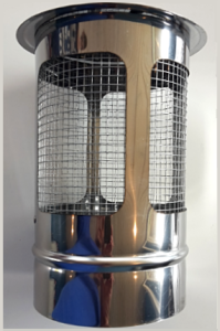 RAIN CAP / SPARK ARRESTOR FOR THE CHIMNEY